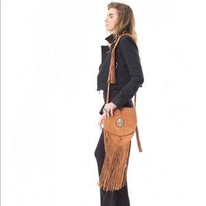 Handbags - Made for pearl leather fringe bag